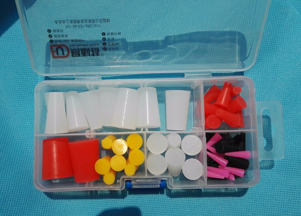 54Pc High Temp Silicone Rubber Powder Coating Paint Solid Tapered Stopper Plug Kit, color varies according to inventory inventory accounting