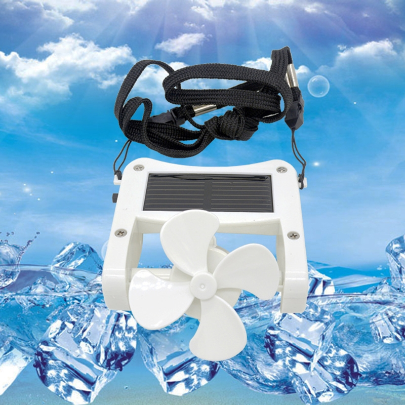 2019 Mini Solar Power/USB Portable Cap Hat Clip On Fan Hanging Desktop Camping Student Cooler Air Conditioning Appliance Pakistan