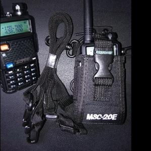 Image 1 - MSC 20E Walkie talkie bag&Nylon Radio Case Holster for handheld Baofeng UV 5R B5 walkie talkie radio holder bag
