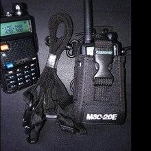MSC 20E walkie talkie saco & náilon caso de rádio coldre para portátil baofeng UV 5R b5 walkie talkie rádio titular saco