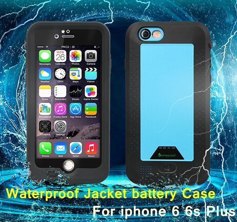 2750mAh 4300 mah Power Bank External Backup Battery Portable Charger Waterproof ShockProof Case For iPhone 6