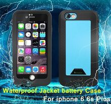 2750mAh/4300 mah Power Bank External Backup Battery Portable Charger Waterproof ShockProof Case For iPhone 6 Plus 6s Plus 4.7″