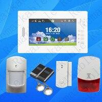 Расширенный Smart 7 дюймовый сенсорный экран безопасности дома 868 мГц GSM сигнализация с литиевая батарея, многоязычная Android и IOS APP