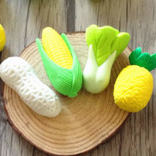 2pcs/lot Vegetables cabbage Pineapple Corn Peanut Pencils Eraser Rubber For Kids Gifts Non-toxic Safe material(China)