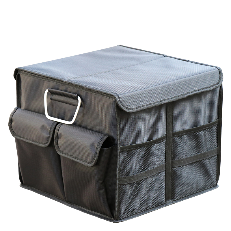 Car Trunk Organizer Oxford Car Back Folding Portable Storage Tool Bag with Cover Food Organiser Auto