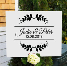 Personalised Bride Groom Names And Date Wall Decal Wedding Sign Transfer Sticker Mural Art Decor Gift Removable WE17