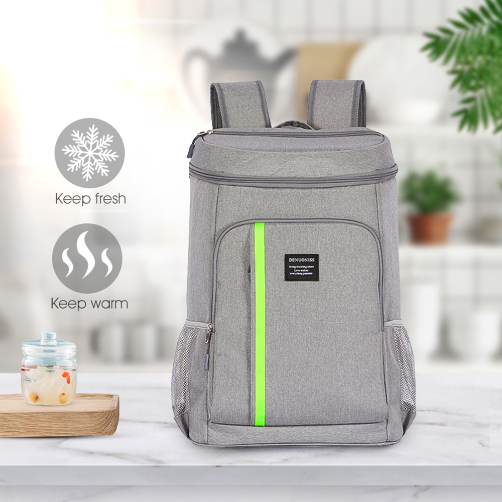 Large Capacity Oxford Cooler Bag Thermo Lunch Picnic Box Insulated Cool Backpack Ice Pack Fresh Carrier Thermal Shoulder Bags