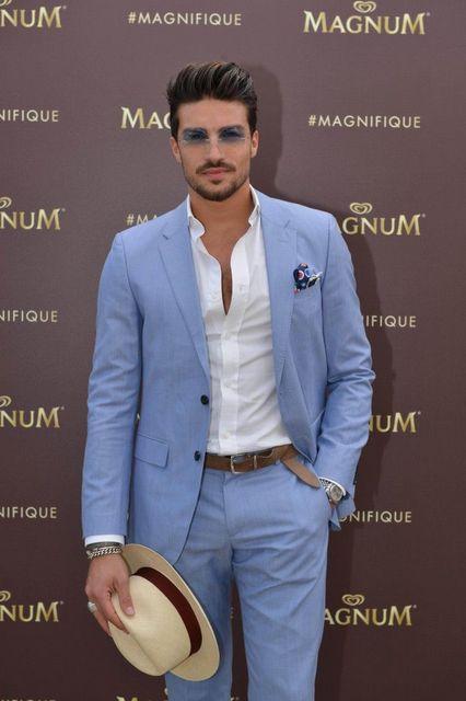 Veste de costume bleu claire