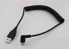 1 Uds. De Cable adaptador de carga en espiral enroscado USB 3,1 tipo C macho acodado A USB 2,0 A macho, 1,5 m 5 pies