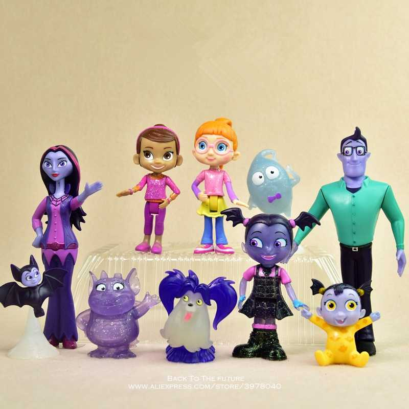 Disney Vampirina 5-14cm Action Figure Anime Mini doll Decoration PVC Collection Figurine Toys model for children gift