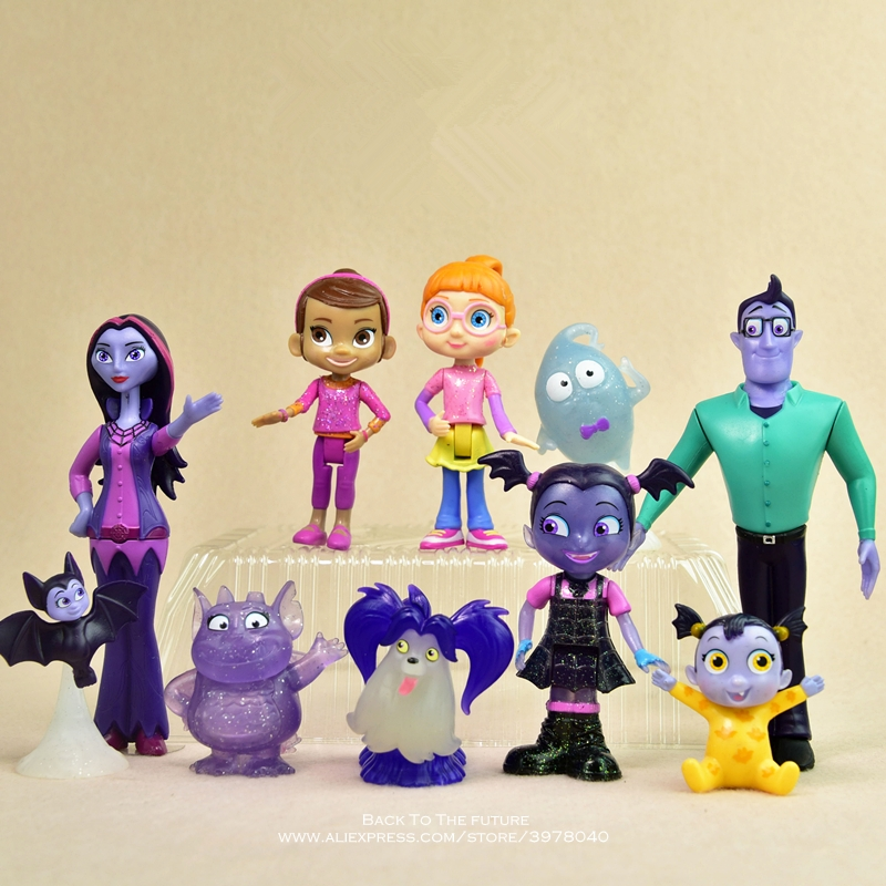 Disney Vampirina 5-14cm Action Figure Anime Mini Doll Decoration PVC Collection Figurine Toys Model For Children Gift
