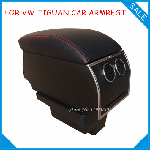 FOR VW 2010-2017 TIGUAN No drill in car 8pcs USB Armrest,Car center arm rest console box with hidden cup holder Car Accessories