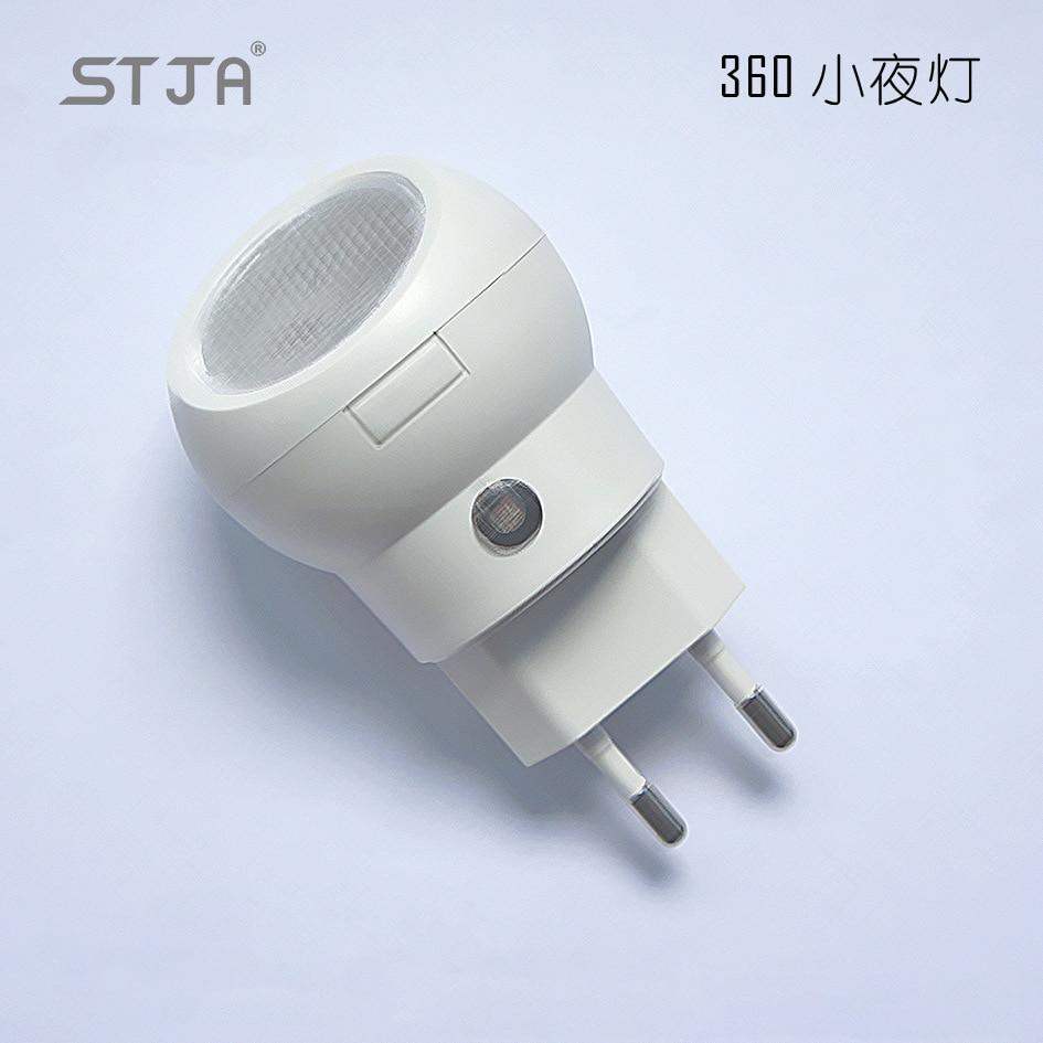 Novelty Sensor Light Eu Plug In Led Lamps Luminous Bulb Lighting 360 Degree Rotating Regulate 0 1w Energy Saving Night Lights From