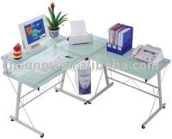US $125.58 |free shipping Meritline Modern Ergonomic Corner Computer Desk  MLK006 (Glass Corner Computer Desks) wholesale&retail-in Computer Desks  from ...