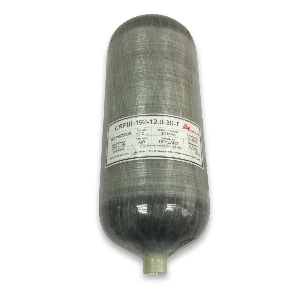 ACECARE 12L Cylinder 300bar Scuba Pcp Compressed Air Rifles Paintball Tank Rifle Air Pcp Carbon Fiber Cylinders M18*1.5 AC3120
