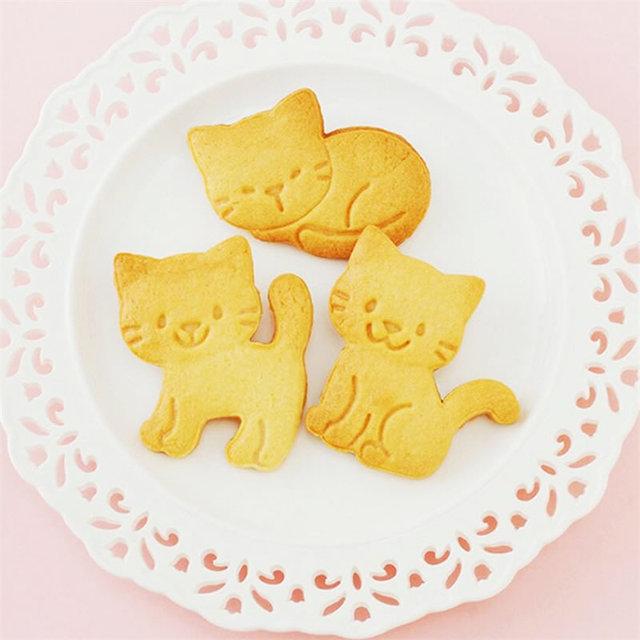 Kitten Shaped Cookie Molds 3 Pcs Set