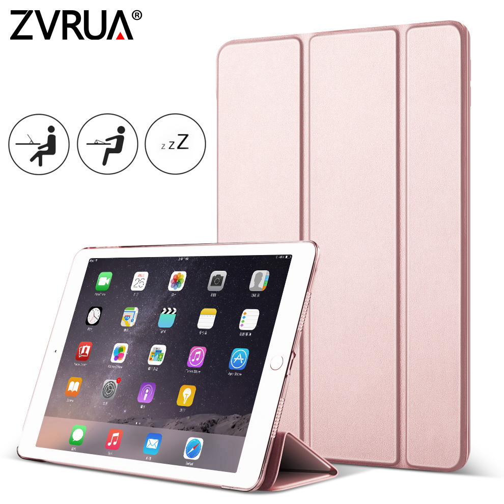 For iPad Air2 Air1, ZVRUA YiPPee Case Slim Pu Leather Smart Cover for Apple iPad Air 1/ 2 Case Sturdy Stand Auto Sleep / Wake usams ipa2kx01 protective pu pc case w stand auto sleep for ipad air 2 black