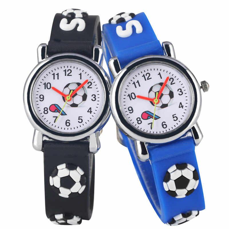 Детские часы, модные футбольные свистки с героями мультфильмов, Детские кварцевые наручные часы для мальчиков и девочек, силиконовые ремешки, футбольные часы
