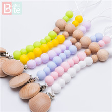 Bite Bites 1pc Baby Silicone Pacifier Clips Chain Teething Teether Soother Dummy Nipple Holder