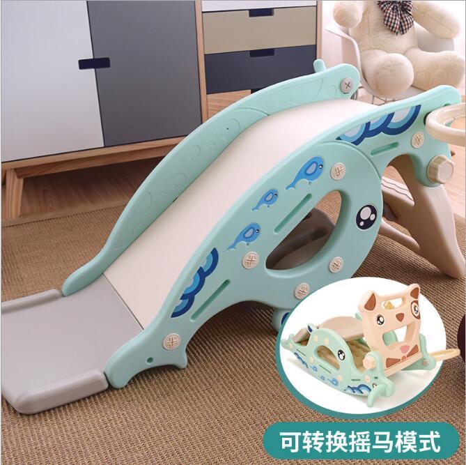 Nouveau bébé videur cheval à bascule toboggan double usage 3 en 1 jouet pour enfants bébé toboggan virole multi-fonction jouets pour enfants en plein air - 2