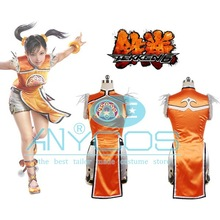 Tekken 6 Ling Xiaoyu Dress+Shorts+Legging For Women Girls Halloween Cosplay Costume