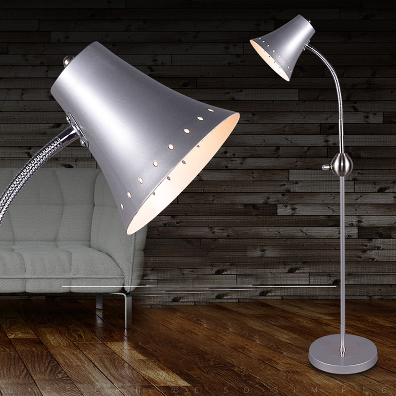 ФОТО Hot Sale High Quality Modern Adjustable Metal Floor Lamp Light With E27 Bulbs Stand Lamp Lambader For Living Room And Bedroom