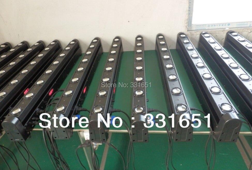 8pcs/lot Perfect Beam Moving Head Light LED Sound Bar 8 12W RGBW