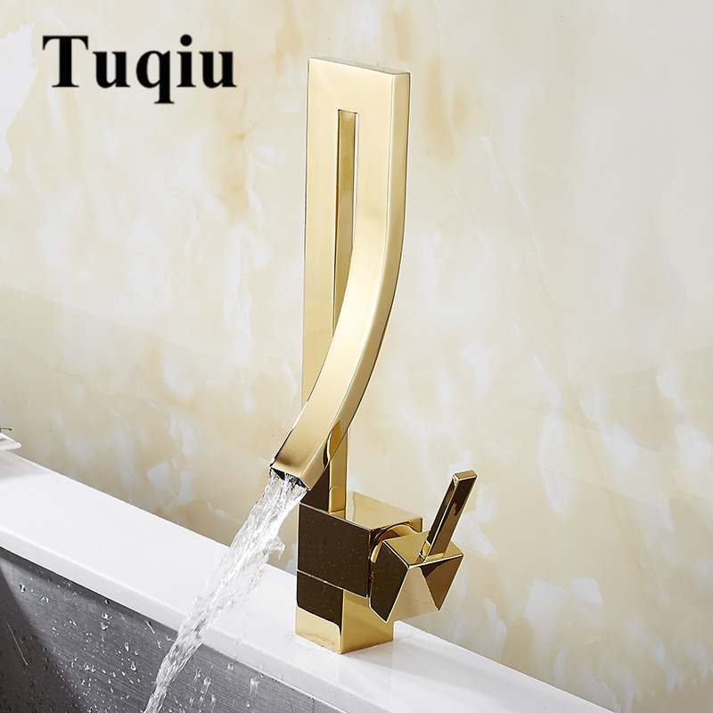 Elegant Chrome Black Nickel Brass Bathroom Square basin Faucet Luxury Sink Mixer Tap Deck Mounted Hot