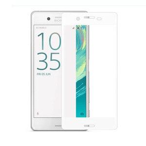 Image 4 - Pokrowiec na pełny ekran 3D szkło hartowane dla Xperia X Performance dla Sony Xperia XA folia ochronna w całości pokryta folią ochronną