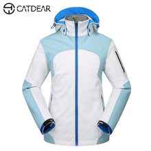 2017 Quality Fleece soft shell jacket women's sports coat Winter Autumn outdoor Ski jacket waterproof waterproof climbing wear