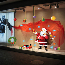 Santa Claus Christmas Wall Stickers Window Glass Christmas Decorations Wall Decal 2016 New DIY Home Decor AM9080B 60*90
