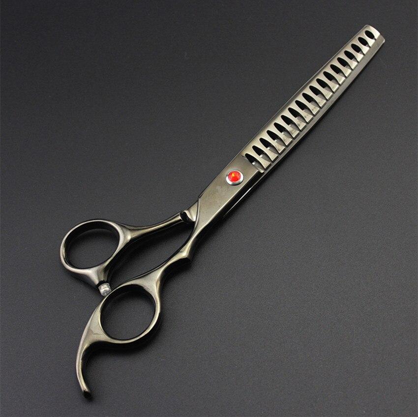 Skräddarsy japan 440c 7''hond grooming hår sax pet hårklippare - Hårvård och styling - Foto 2