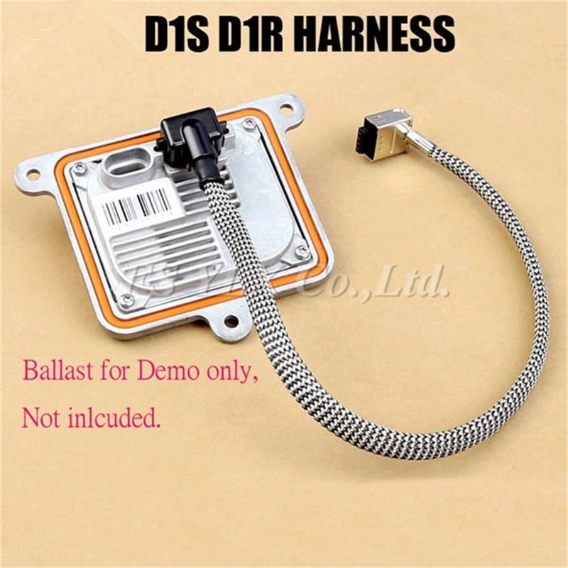 FSYLX 1pc D1S  Xenon HID Wire Adapter Cable Plug Connector 12v D1S/D1R/D3S/D3R Ballast to Bulb Harness