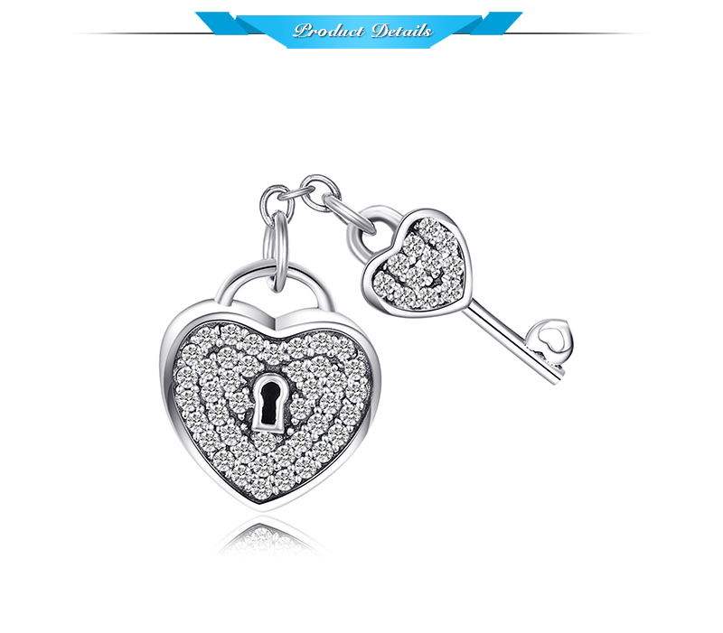 HTB1njikbjzuK1RjSspeq6ziHVXaY JewelryPalace Heart Key 925 Sterling Silver Beads Charms Silver 925 Original For Bracelet Silver 925 original For Jewelry Making