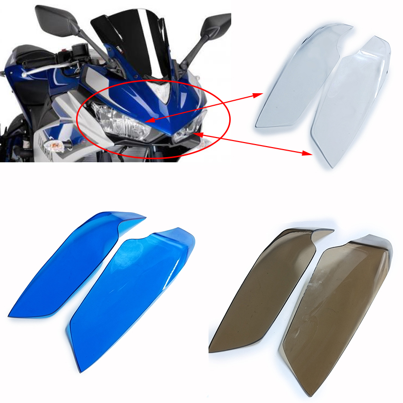 R3 YZF-R3 2015 2016 2017 Motorcycle Lighting Front Head Light Headlight Protective Cover For Yamaha YZF-R25 R25 2013-2017 2014 geely sc7 sl car front headlight head light transparent cover