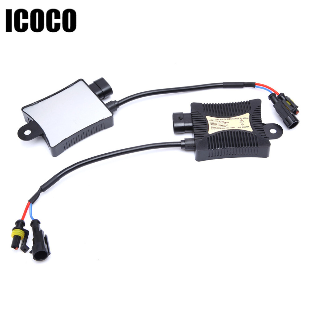 1pcs 12V Digital Car Xenon HID Conversion Kit Replacement With Slim Ballast Blocks for Headlights H1 H3 H7 H11 DC 12V 55W replacement 55w car hid ballast dc 9 16v