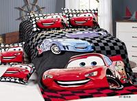 Cartoon Lightning McQueen Cars Bedding Sets Children Bedroom Decor Single Twin Size Bed Sheets Quilt Duvet