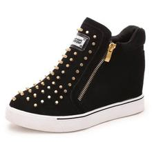 5-9 us size big yards for women's shoes new winter 2016 sponge with thick bottom rivet increased in high comfortable casual shoe