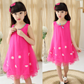 Han Edition Children'S Princess Dress Girls Dress 2016 New Summer Wear  Flowers Sundress BOX008