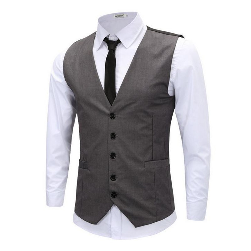 Men's Vest Casual Fitness Spring Fashion Slim for Man Suit Summer-Style Hot-Sale New-Brand