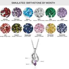 3 Birthstone Necklace Pendants