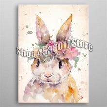 5d Diy Diamond Painting Cross Stitch Little Bunny Water Colour Art Embroidery Kits Mosaic Full Rhinestone Gifts