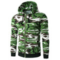 Мужская Мода Осень Зима Теплая Зеленый Камуфляж Балахон Пальто Casual Male Молнию Куртки И Пиджаки С Капюшоном BlouseTops Nov25