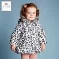 Davebella DB3730 девушки леопарда печатных куртка дети ватник дети бутик верхней одежды зимнее пальто