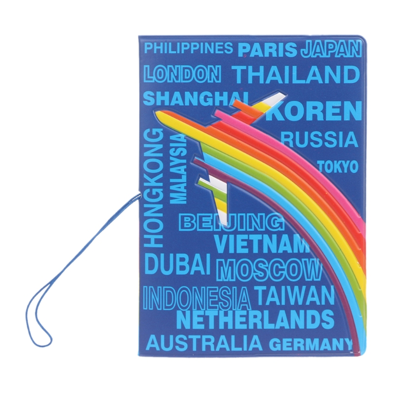 Aircraft Place Name Passport Holder Organizer Travel Card Case Document Cover Travel Accessories image