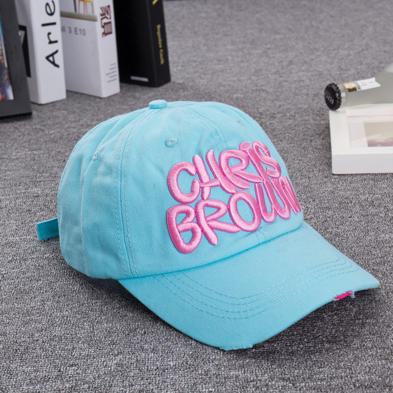 ashion Korean trend Embroidered alphabet CHRISBROWN baseball cap Golf hat sports cap