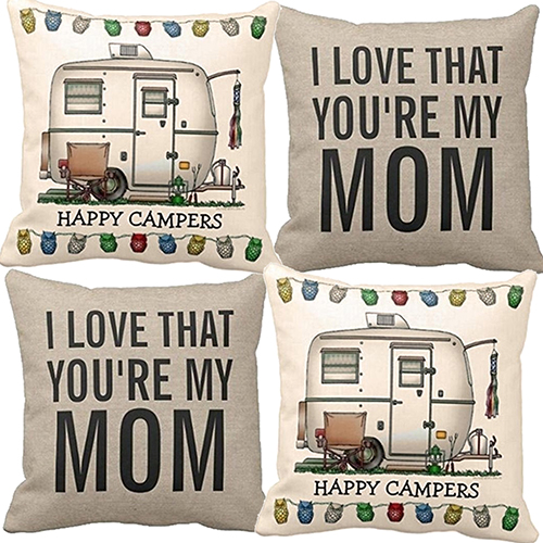 Retro Linen Square Throw Pillows Back Pillowsilp Home Textile For Mother Gifts