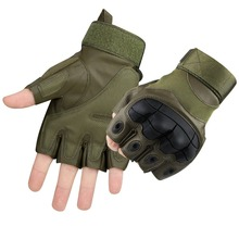 New Professional Hard Knuckle Half Finger Gloves Paintball Tactical Motorcycle Cycling Fingerless Protective Glove