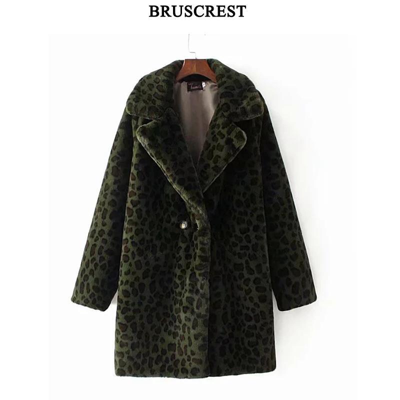 겨울 모피 자켓 따뜻한 표범 인쇄 가짜 모피 코트 streetwear 긴 소매 두꺼운 테디 코트 outwear abrigo mujer 레이디 롱 코트-에서인조 퍼부터 여성 의류 의  그룹 1