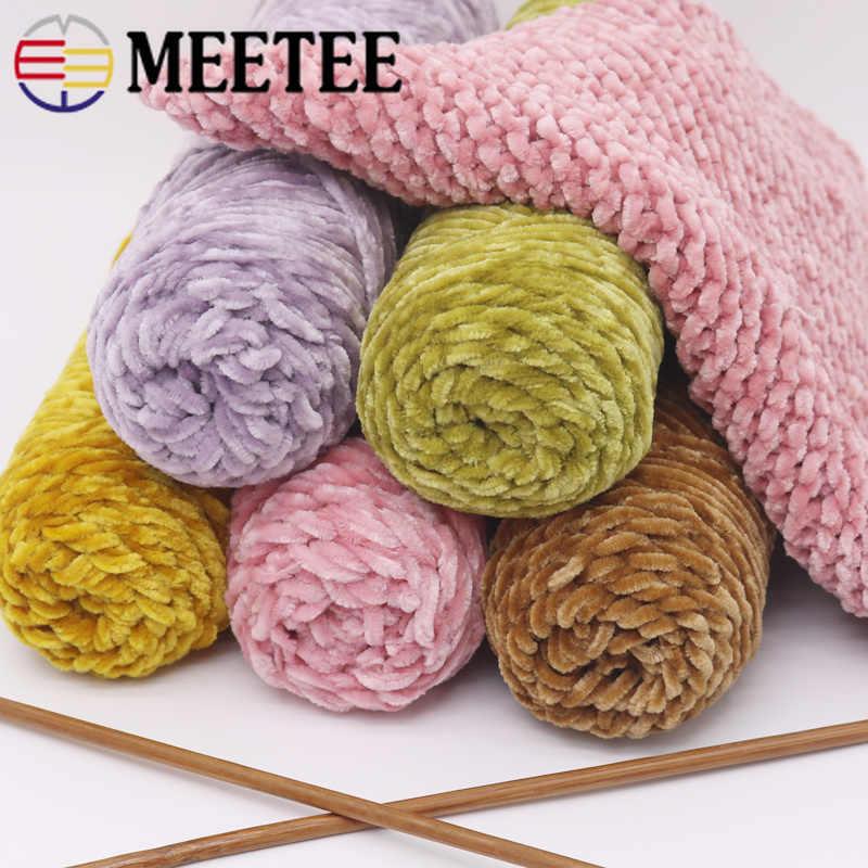 Meetee 1 pc/100g algodão macio veludo de seda proteína fio de caxemira crochê fio de lã do bebê para a mão tricô diy suéter cachecol ap473
